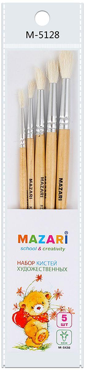 Mazari Набор кистей из волоса козы 5 штМ-5128Кисти Mazari идеально подойдут для художественных и декоративно-оформительских работ. В набор входят кисти из волоса козы №2, 3, 4, 5, 6. Кисти предназначены для работы с акрилом, маслом, акварелью, гуашью, темперой и лаком. Удобные ручки кисточек окрашены в различные цвета. Тонкие ручки обеспечивают комфортный захват.