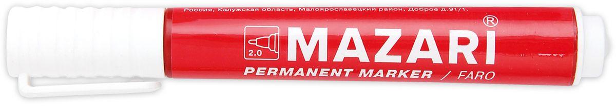 Mazari Маркер перманентный Faro цвет красныйМ-5002_красныйМаркер Mazari Faro подходит для письма на любых поверхностях. Маркер имеет пулевидную форму наконечника. Толщина линии - 2,0 мм.