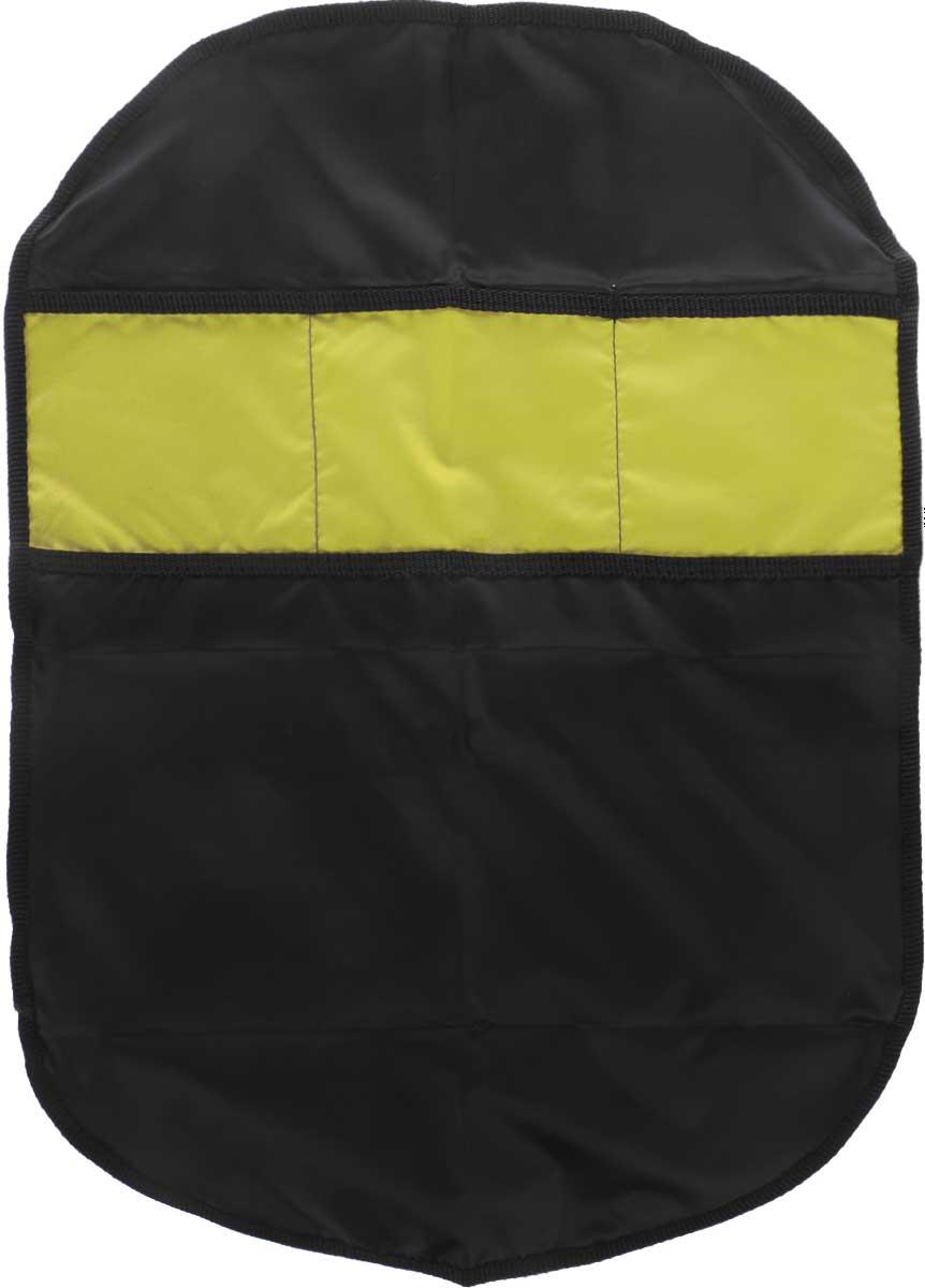 Органайзер автомобильный Главдор, на спинку сиденья, цвет: черный, желтый, 61 х 44 смGL-442_черный,желтыйПлоский автомобильный органайзер Главдор с тремя карманами, выполненный из ткани оксфорд, предназначен для размещения на спинку сиденья. Закрепляется при помощи эластичных лент. Органайзер позволит компактно упаковать большое количество вещей. Сохранит свободное пространство машины.Размер органайзера: 61 х 44 см.