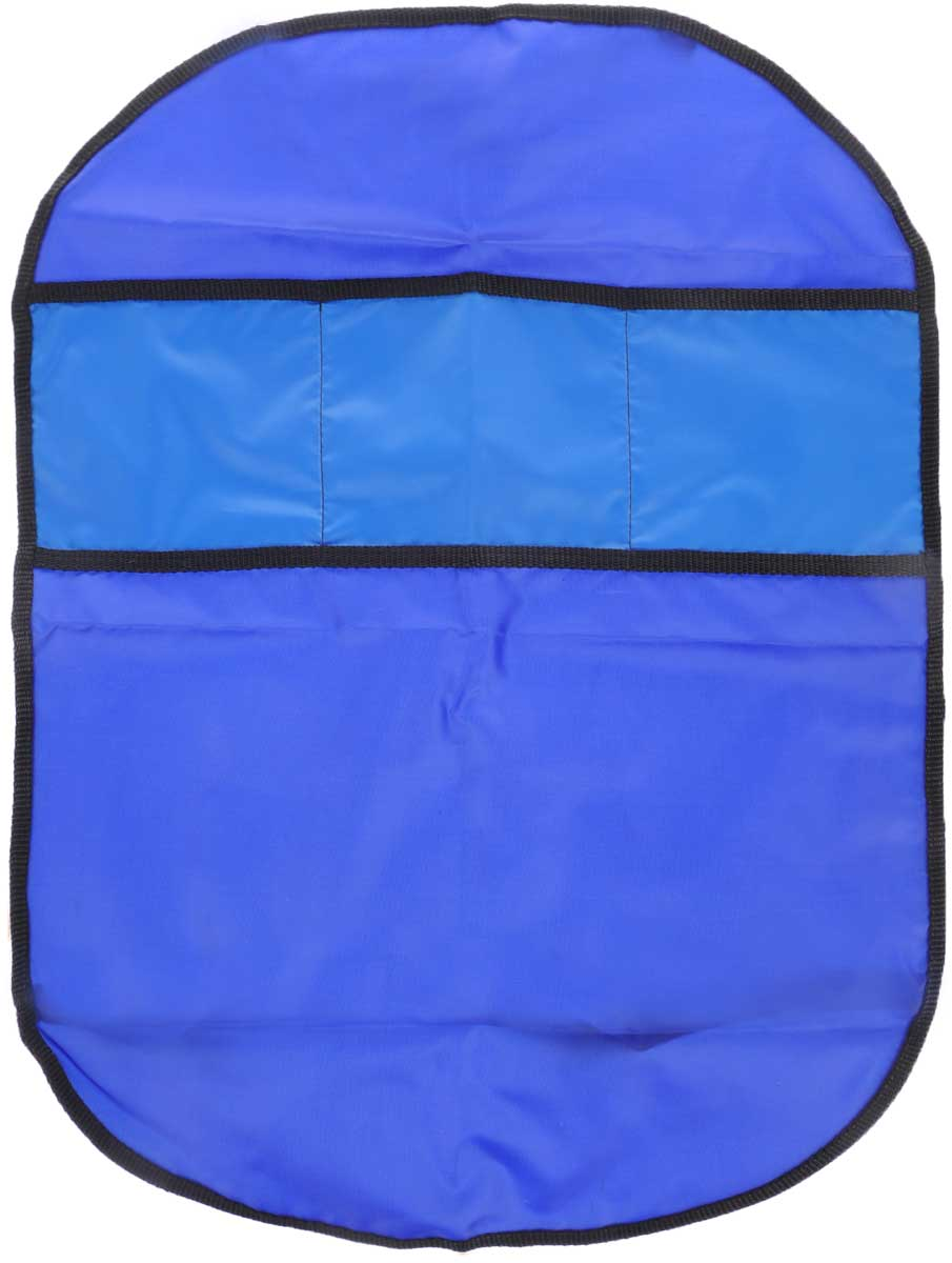Органайзер автомобильный Главдор, на спинку сиденья, цвет: темно-синий, синий, 61 х 44 смS03301004Плоский автомобильный органайзер Главдор с тремя карманами, выполненный из ткани оксфорд, предназначен для размещения на спинку сиденья. Закрепляется при помощи эластичных лент. Органайзер позволит компактно упаковать большое количество вещей. Сохранит свободное пространство машины.Размер органайзера: 61 х 44 см.