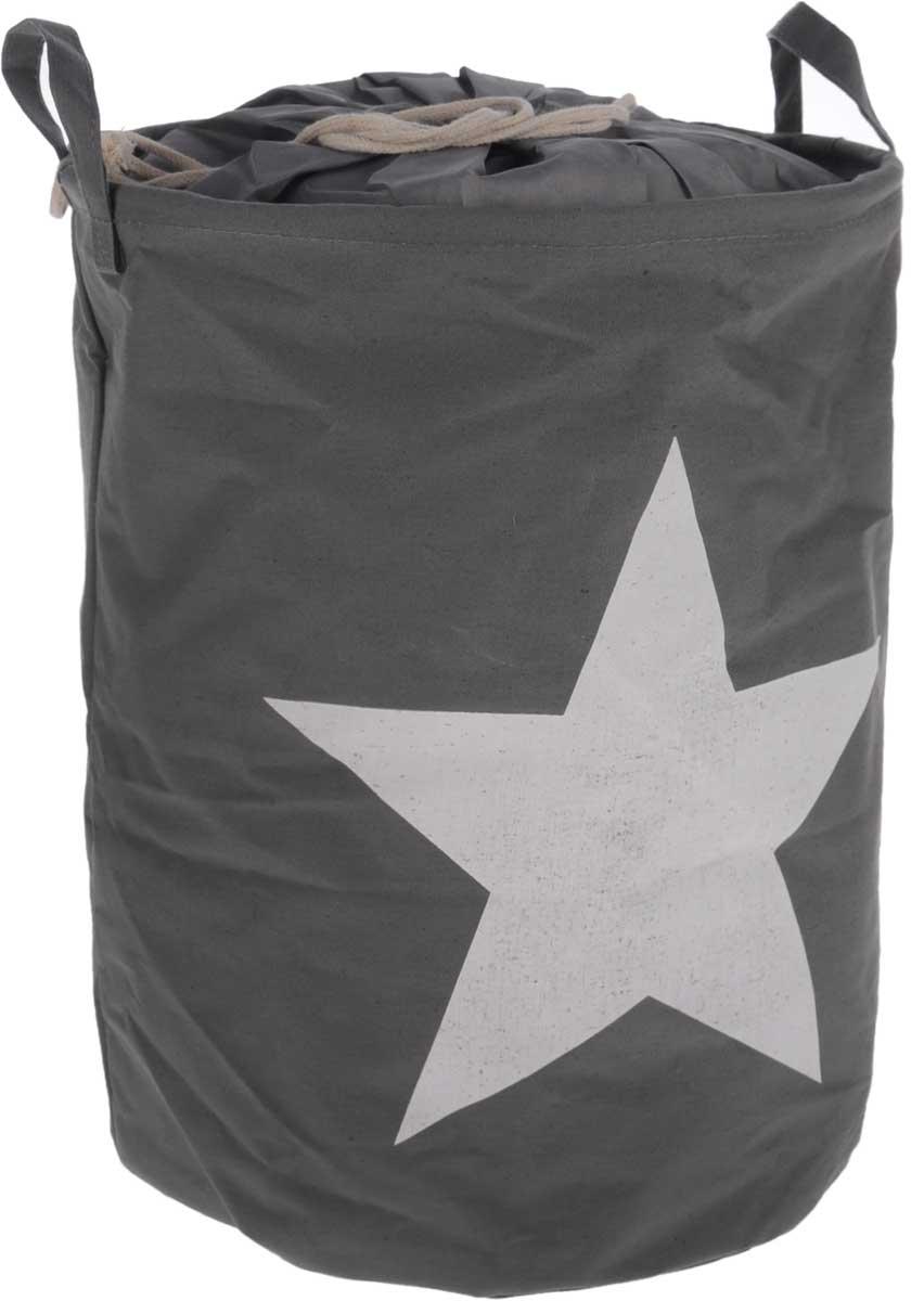 Корзина для белья Tatkraft Star, складная, 43 л391602Корзина для белья Star, выполненная из полиэстера и хлопка, предназначена для хранения белья перед стиркой. Корзина очень легко собирается. Внутренняя часть корзины водонепроницаемая. Изделие снабжено удобными ручками и шнурками для затягивания. Корзина для белья Star - это функциональная и полезная вещь, которая не только сохранит ваше белье, но и стильно украсит интерьер помещения.Диаметр корзины: 35 см.Высота корзины: 45 см.
