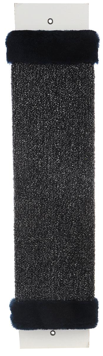 Когтеточка ЗооМарк, настенная, цвет: серый, темно-синий, 57 х 13 х 3,5 смД517ЦвНастенная когтеточка ЗооМарк предназначена для стачивания когтей вашей кошки и предотвращения их врастания. Волокна ковролина обеспечивают естественный уход за когтями питомца. Когтеточка позволяет сохранить неповрежденными мебель и другие предметы интерьера.Длина когтеточки: 57 см.Длина рабочей части: 48 см.