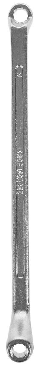 Ключ гаечный накидной Helfer, 6 х 7 ммFS-80264Накидной гаечный ключ Helfer станет отличным помощником монтажнику или владельцу авто. Этот инструмент обеспечит надежную фиксацию на гранях крепежа. Благодаря изогнутым головкам вы обеспечите себе удобный доступ к элементам крепежа и безопасность. Длина ключа: 18 см.
