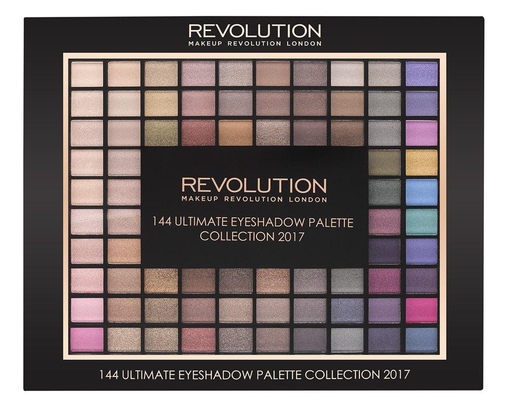Makeup Revolution Набор из 144 теней Ultimate Eyeshadow Collection 2017DLL4602144 оттенка теней в одной палетке - мечта, которая может стать реальностью! От естественных светлых до насыщенных ярких - с палеткой 144 Ultimate Eyeshadow вы точно сможете создать любой макияж глаз! Настоящий Must Have для визажистов и бьютиголиков!
