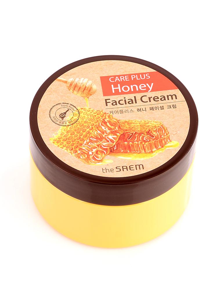 The Saem Крем для лица медовый Care Plus Honey Facial Cream, 200 мл647254Медовый крем для кожи лица. Благодаря содержанию уникального продукта, собранного со склонов корейского горного парка Чирисан, сможет устранить множество проблем на кожном покрове разного типа. Обладает выраженным гигроскопическим эффектом и при контакте с сухой кожей переносит влагу в эпидермис, доставляя ей необычайное чувство облегчения и комфорта. Улучшает эластичность нижних слоев, в результате чего поверхность кожи обретает восхитительную гладкость. Образует тонкую защитную пленку, сохраняя кожный покров напитанным и увлажненным.