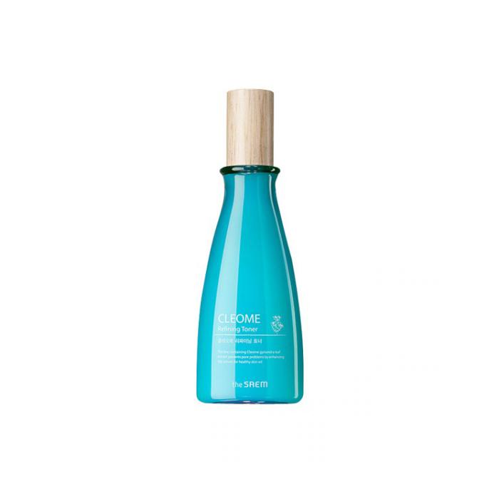 The Saem Тонер для лица с экстрактом клеомы Cleome Refining Toner, 160 млСМ2337Африканский цветок клеома оказывает смягчающее и успокаивающее действие на кожу. Голубая глина нейтрализует и выводит токсины, убивает бактерии, улучшает структуру кожи. Свежий и освежающий рН баланс тонера мягко заполняет и оказывает моментальный стягивающий и разглаживающий эффект. Содержит очищенную воду, денатурат, глицерин, бутиленгликоль, экстракт зеленого чая, ниацинамид.