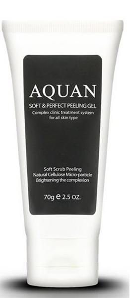 Anskin Пилинг-гель для лица Aquan Soft & Perfect Peeling Gel, 70 млFS-00897Пилинг-гель осторожно очищает кожный покров от мертвых клеток, разглаживает морщины, кожа становится матовой и гладкой. Природные частицы целлюлозы, витамин Е и экстракт алоэ, входящий в состав геля, питает и увлажняет кожу лица, улучшает подкожную циркуляцию крови, также улучшает проникновение кислорода в клетки кожи. Гель не содержит парабенов, минеральных масел, искусственных красителей. Экстракт портулака, пантенол, витаминный комплекс EX BSASM Skin Calm Plus защищает кожу от внешних воздействий, кожа становится еще более сияющей, упругой и эластичной.