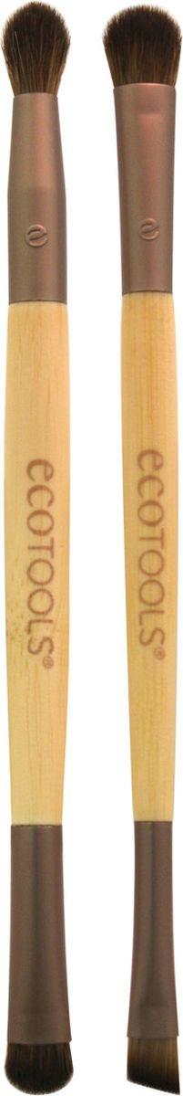 EcoTools Набор из двух кистей для макияжа глаз Eye Enhancing Duo Set1217МНабор из 2-х двусторонних кистей в удобном клатче для хранения итранспортировки . Заменит в вашей косметичке 4 кисти, необходимые для создания полноценного макияжа глаз:- плоскую закругленную кисть для нанесения основного оттенка- плотную кисть с коротким ворсом для прорисовки складки века- пушистую круглую кисть для безупречной растушевки - ультратонкую плоскую скошенная кисть для подводки.