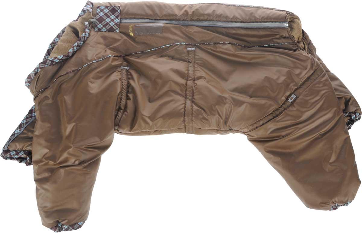 Комбинезон для собак Dogmoda  Doggs , зимний, для девочки, цвет: коричневый. Размер XXL