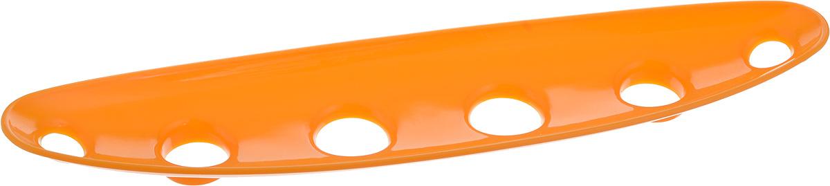 Миска для фруктов и овощей Tescoma Vitamino, продольная, цвет: оранжевый, 35 х 8 х 2,5 см54 009312Продольная миска Tescoma Vitamino выполнена из высококачественного прочного пластика. Изделие прекрасно подходит для хранения свежих овощей и фруктов, например, яблок, груш, слив, мандаринов, помидоров, а также для ополаскивания их под проточной водой. Миска оснащена большими отверстиями для максимального доступа воздуха к хранимым продуктам. Фрукты и овощи в таком изделии дозревают естественным путем и дольше остаются свежими.Подходит для холодильника и посудомоечной машины.Размер миски: 35 х 8 х 2,5 см.