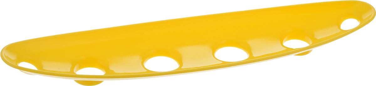 Миска для фруктов и овощей Tescoma Vitamino, продольная, цвет: желтый, 35 х 8 х 2,5 см115510Продольная миска Tescoma Vitamino выполнена из высококачественного прочного пластика. Изделие прекрасно подходит для хранения свежих свежих фруктов и овощей, например, яблок, груш, слив, мандаринов, помидоров, а также для ополаскивания их под проточной водой. Миска оснащена большими отверстиями для максимального доступа воздуха к хранимым продуктам. Фрукты и овощи в таком изделии дозревают естественным путем и дольше остаются свежими.Подходит для холодильника и посудомоечной машины.Размер миски: 35 х 8 х 2,5 см.