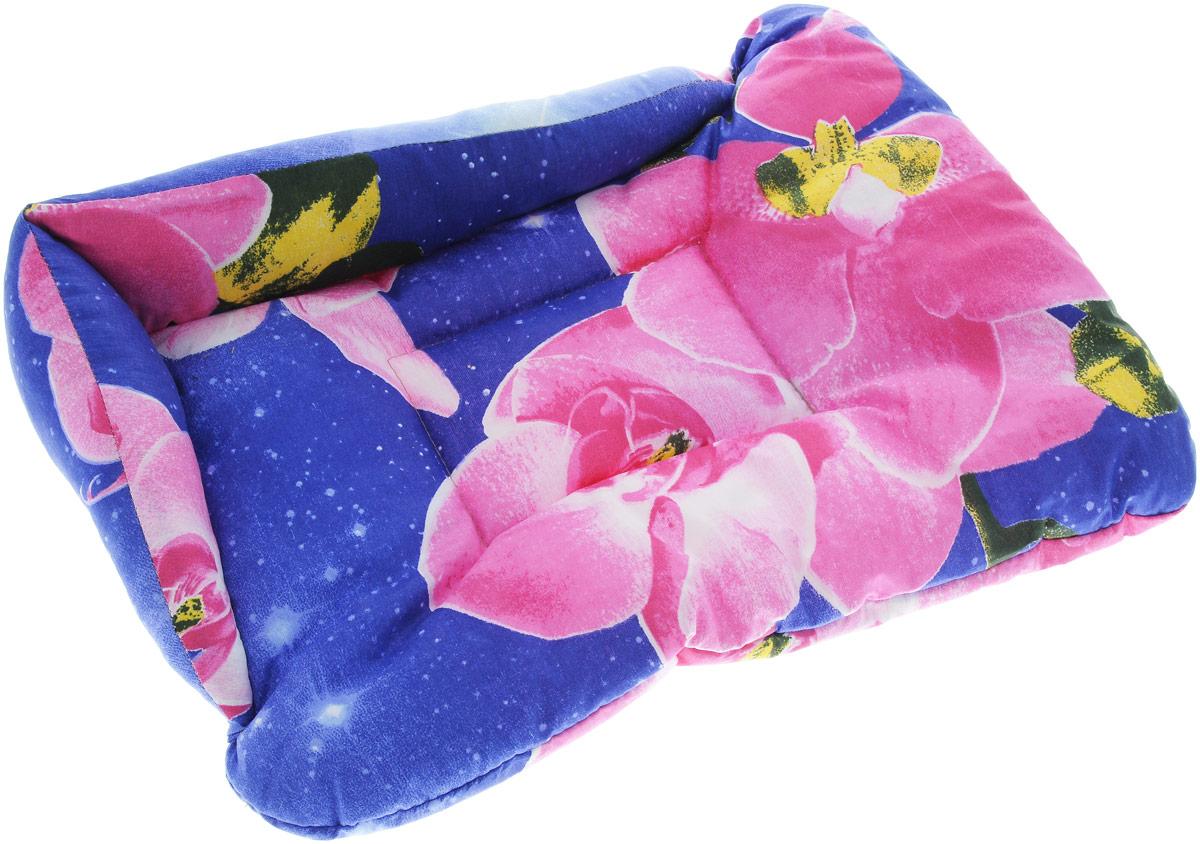 Лежак для животных Elite Valley Софа, цвет: синий, розовый, 50 х 38 х 12 см. Л-5/20120710Лежак для животных Elite Valley Софа изготовлен из высококачественной бязи, наполнитель - холлофайбер. Он станет излюбленным местом вашего питомца, подарит ему спокойный и комфортный сон, а также убережет вашу мебель от многочисленной шерсти. На таком лежаке вашему любимцу будет мягко и тепло.