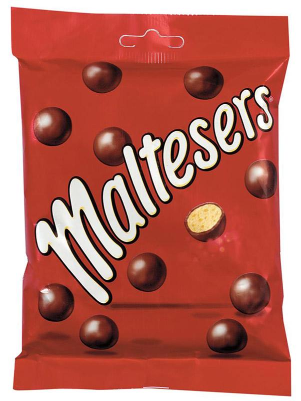 Maltesers Драже Шоколадные Шарики, 85 г0120710Драже Maltesers - это хрустящие шарики, покрытые молочным шоколадом. Maltesers - легкий взгляд на шоколад. Maltesers - настолько нежные и легкие, что даже не тонут в воде.