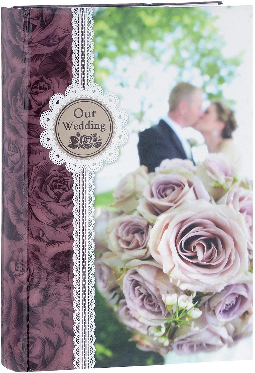 Фотоальбом Platinum Наша свадьба - 2, 300 фотографий, 10 х 15 см, цвет: бордовый, розовый, зеленый. С-46300RCLPLATINUM PF10177BФотоальбом Platinum Наша свадьба - 2 поможет красиво оформить ваши фотографии. Обложка выполнена из толстого картона и декорирована оригинальным рисунком. Внутри содержится блок из 50 листов с фиксаторами-окошками из полипропилена. Альбом рассчитан на 300 фотографий формата 10 х 15 см (по 3 фотографии на странице). Листы имеют поля для подписи. Переплет - книжный. Нам всегда так приятно вспоминать о самых счастливых моментах жизни, запечатленных на фотографиях. Поэтому фотоальбом является универсальным подарком к любому празднику.Количество листов: 50.