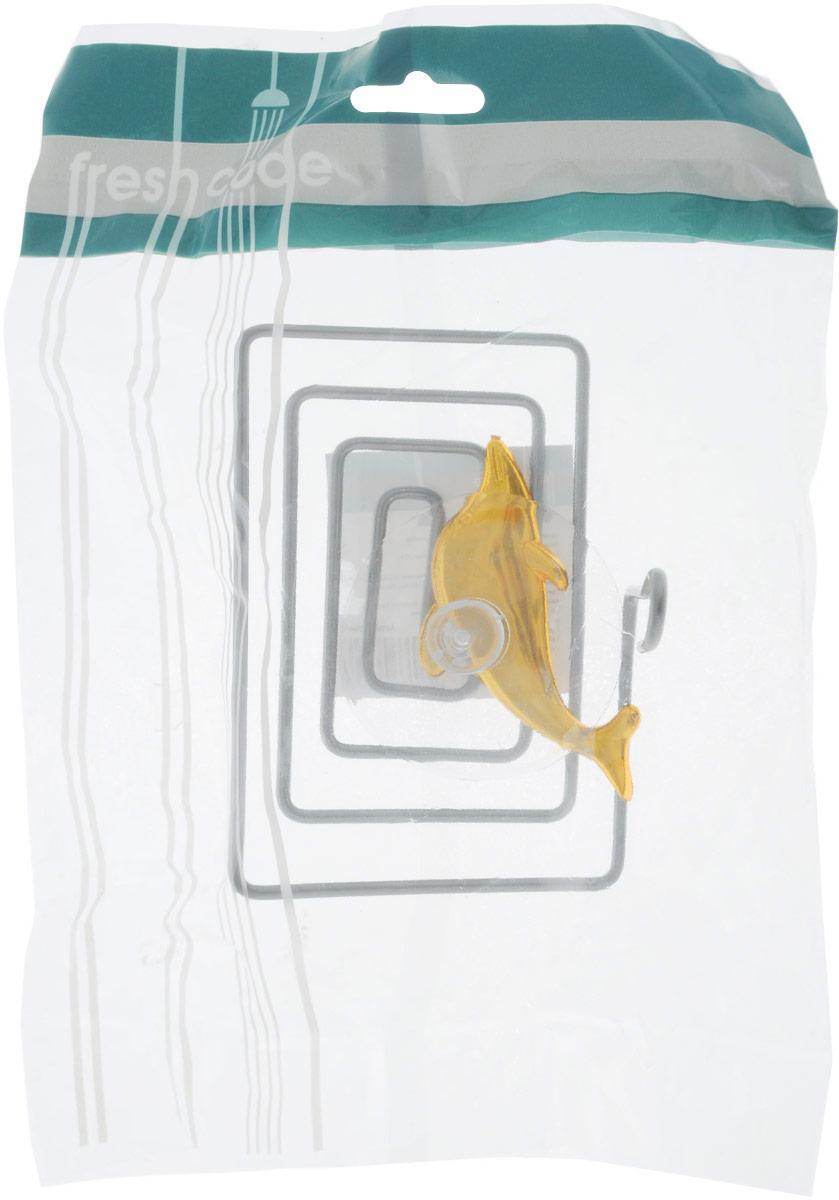 Мыльница Home Queen Дельфин, цвет: золотой, стальной, 12 х 9 х 9 см25051 7_желтыйМыльница Home Queen Дельфин выполнена из хромированной стали и украшена пластиковой фигуркой. Крепится к стене при помощи присоски. Такая мыльница прекрасно подойдет для ванной комнаты или кухни.