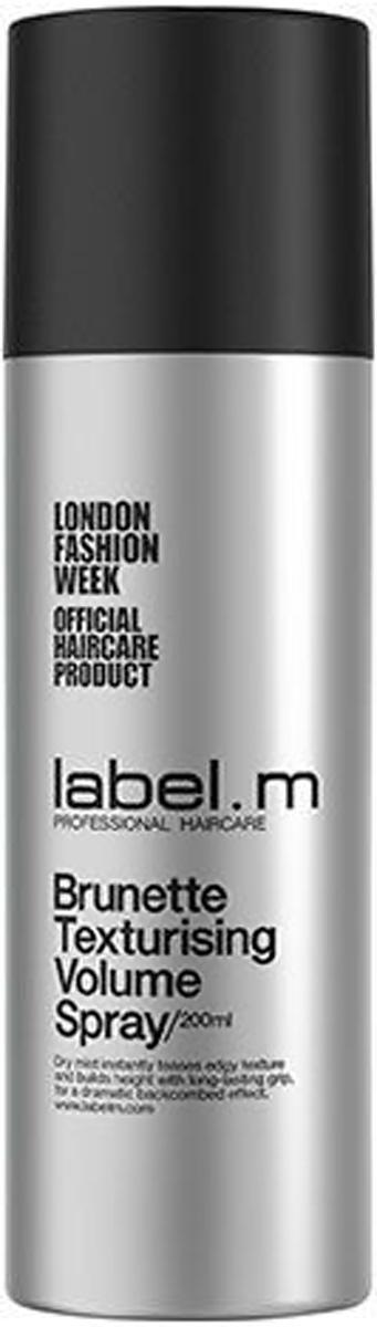 Label.m Спрей текстурирующий для объема для брюнеток 200 млE0631687Сухой спрей специально для брюнеток мгновенно взбивает слоистую текстуру и создаёт высокую эффектную причёску с длительной фиксацией. Универсальный спрей специально для брюнеток. Текстурирующие преимущества сухого шампуня в сочетании с фиксацией лака для волос. Потрясающий объём и мгновенный прикорневой объём. Оживляет тонкие волосы.