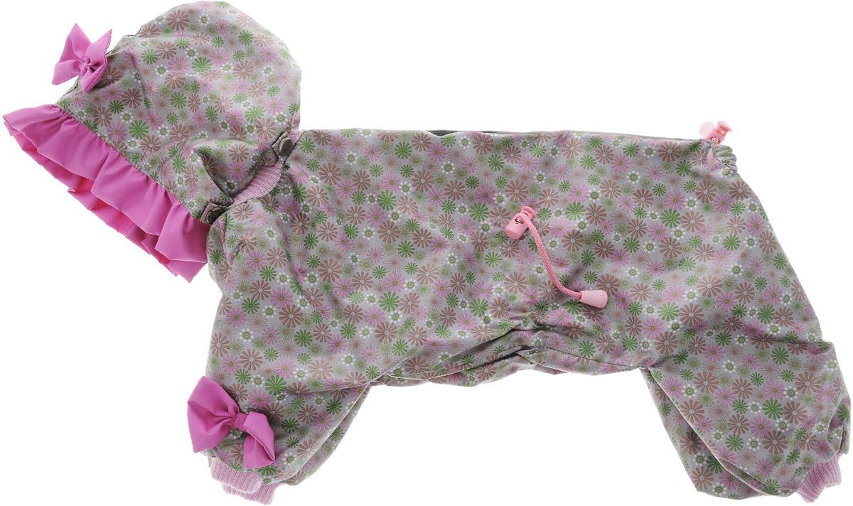 Комбинезон для собак Kuzer-Moda Мариска, для девочки, двухслойный, цвет: серый, розовый. Размер 2752000918Комбинезон Kuzer-Moda Мариска предназначен для собак мелких пород. Изделие отлично подойдет для прогулок в прохладную погоду.Комбинезон изготовлен из прочной ткани, которая сохранит тепло и обеспечит отличный воздухообмен. Комбинезон застегивается на кнопки и липучки, благодаря чему его легко надевать и снимать. Ворот, низ рукавов и брючин оснащены резинками, которые мягко обхватывают шею и лапки, не позволяя просачиваться холодному воздуху. На пояснице имеются затягивающиеся шнурки, которые также помогают сохранить тепло.Благодаря такому комбинезону простуда не грозит вашему питомцу, и он не даст любимцу продрогнуть на прогулке.Размер: 27.Обхват: груди: 50 см.Обхват шеи: 20 см.