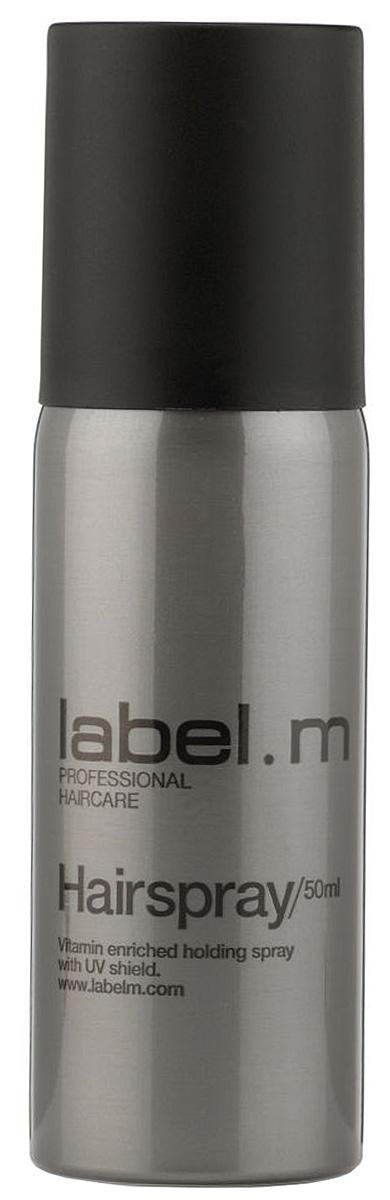 Label.m Лак для волос 50 мл7209392000Если вы хотите стойкую, идеально зафиксированную прическу, источающую ослепительный блеск, то Label M Hairspray исполнит ваше желание. Это укладочное средство для волос входит в профессиональную косметическую линию Label M, обеспечивая прекрасную фиксацию любой укладки, а также защищая ее от влаги. Входящие в состав косметического средства провитамины В5 и UV фильтры нового поколения позволяют надежно фиксировать прическу и контролировать ее долгое время, защищая волосы даже от разрушающего действия солнечных лучей. Средство не склеивает и не утяжеляет пряди, а также не делает их жесткими. Укладочное средство будет незаметно на волосах, к тому же, пожеланию, легко удаляется вычесыванием. Придавая невероятный блеск и сияние каждой пряди, средство от Лебел М предотвращает закручивание нежелательных локонов.