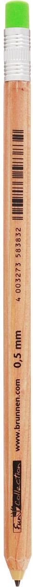 Brunnen Карандаш механический с ластиком225600Механический карандаш Brunnen - это незаменимый атрибут современного делового человека в офисе и дома. Корпус выполнен из качественного прочного пластика под дерево. Карандаш оснащен автоматической кнопкой из цветного ластика и обладает минимальным расходом грифеля, благодаря инновационной технологии.Уважаемые клиенты!Обращаем ваше внимание на цветовой ассортимент ластика. Поставка осуществляется в зависимости от наличия на складе.