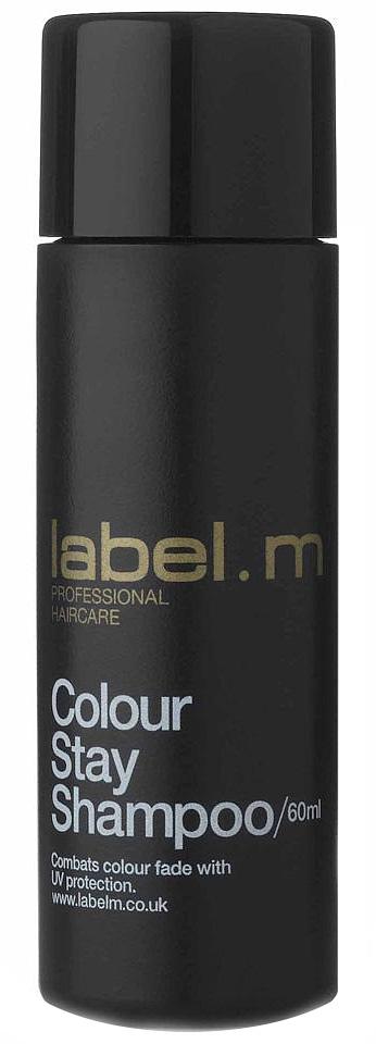 Label.m Шампунь защита цвета 60 млFS-00897Закрепляет молекулы красителя в волосе и защищает цвет, благодаря уникальному сочетанию протеинов пшеницы и сои, гидролизованного шелка и экстракта подсолнуха. Гелиогенол препятствует вымыванию и выгоранию цвета. Эксклюзивный комплекс Enviroshield предохраняет волосы от термического воздействия во время укладки и от УФ лучей.