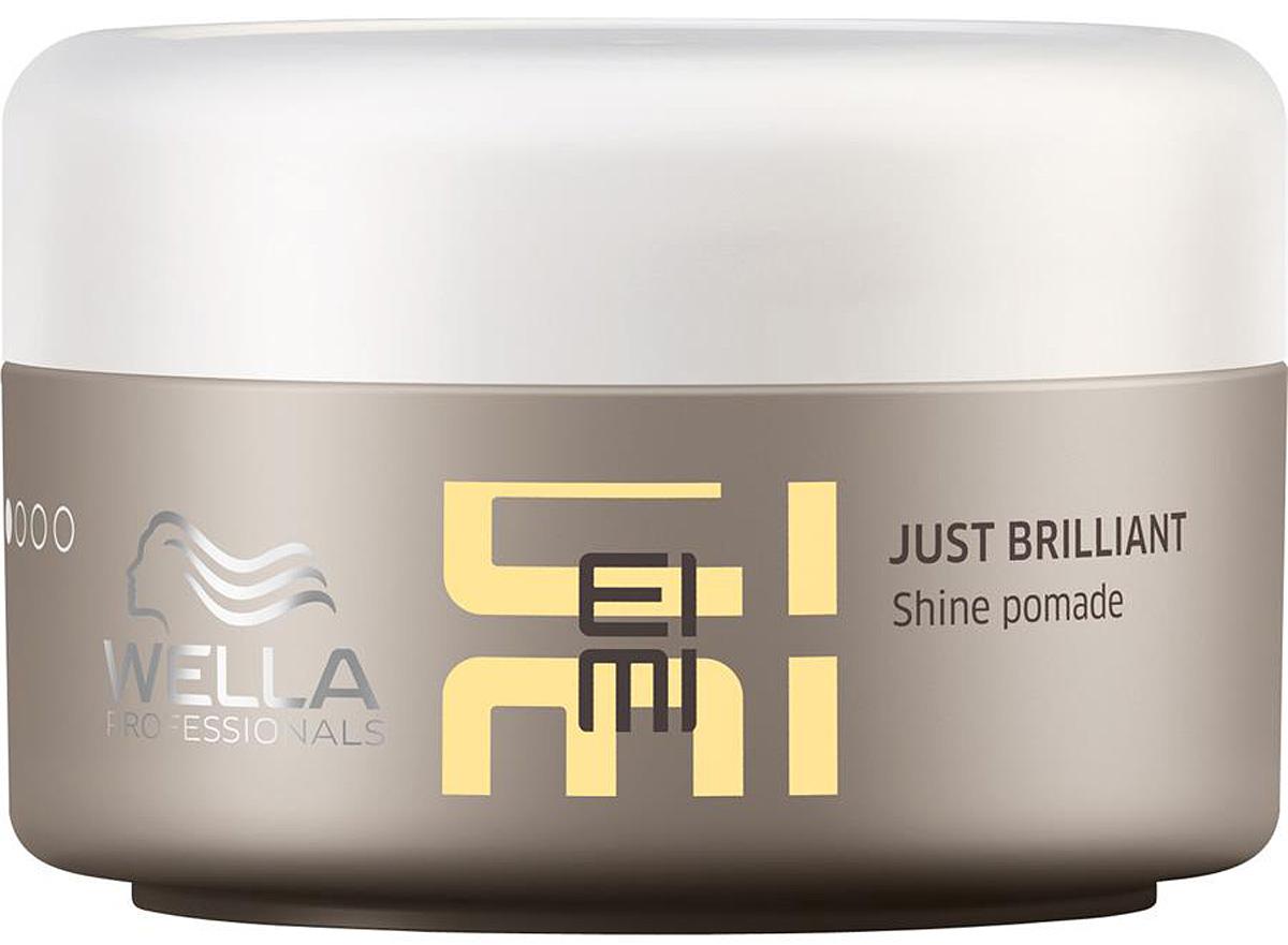 Wella Помада для придания блеска волосам EIMI Just Brilliant -75 мл21033019Помада для придания блеска Just Brilliant предназначена для облегчения укладки, придания неотразимого блеска волосам и их защите от ультрафиолетового воздействия солнечных лучей и прочего негативного внешнего воздействия. В результате воздействия помады для блеска волосы приобретают гладкость и шелковистость, получают дополнительное питание, а способность средства к эластичной фиксации позволяет вам бесконечное число раз видоизменять прическу. Средство является новинкой 2016 г. С новым стайлингом EIMI от Wella Professionals вы всегда сможете подчеркнуть свою индивидуальность, которая является самым актуальным трендом современной моды.