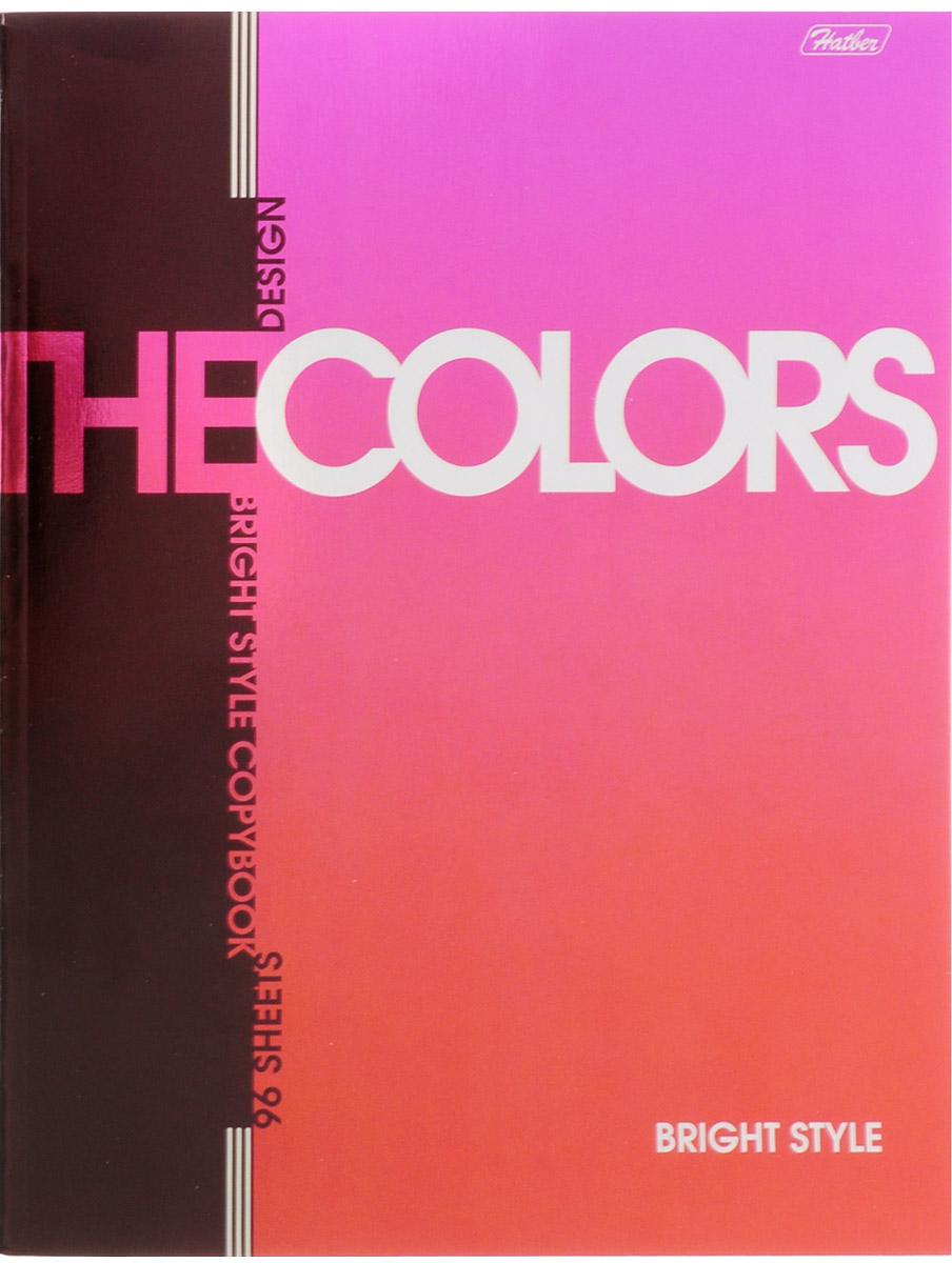 Hatber Тетрадь The Colors 96 листов в клетку цвет малиновый80Т4вмB1гр_голубойТетрадь Hatber The Colors отлично подойдет для занятий школьнику, студенту или для различных записей.Обложка, выполненная из плотного металлизированного картона, украшена изображением английских букв.Внутренний блок тетради, соединенный металлическими скрепками, состоит из 96 листов белой бумаги в клетку с полями.