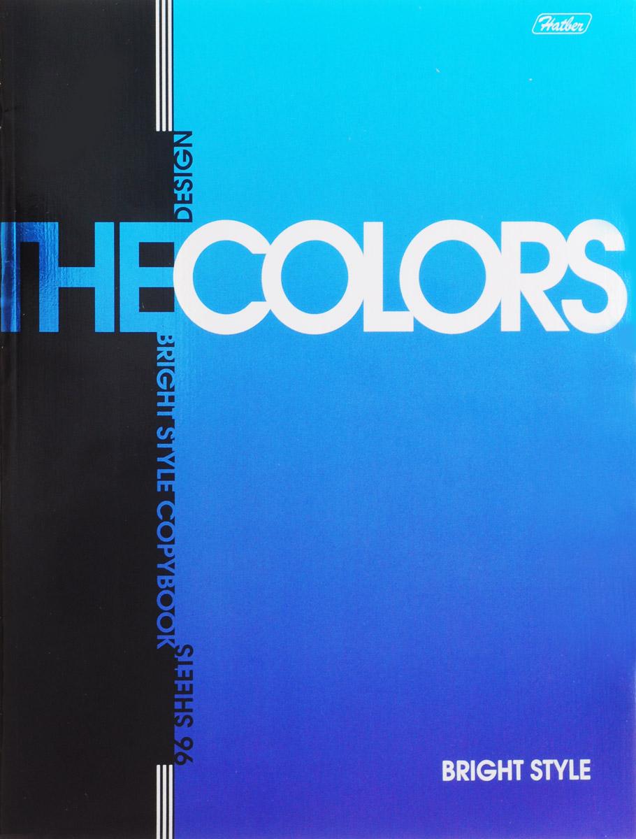 Hatber Тетрадь The Colors 96 листов в клетку цвет синий72523WDТетрадь Hatber The Colors отлично подойдет для занятий школьнику, студенту или для различных записей.Обложка выполнена из плотного металлизированного картона и украшена изображением английских букв.Внутренний блок тетради, соединенный металлическими скрепками, состоит из 96 листов белой бумаги в клетку с полями.
