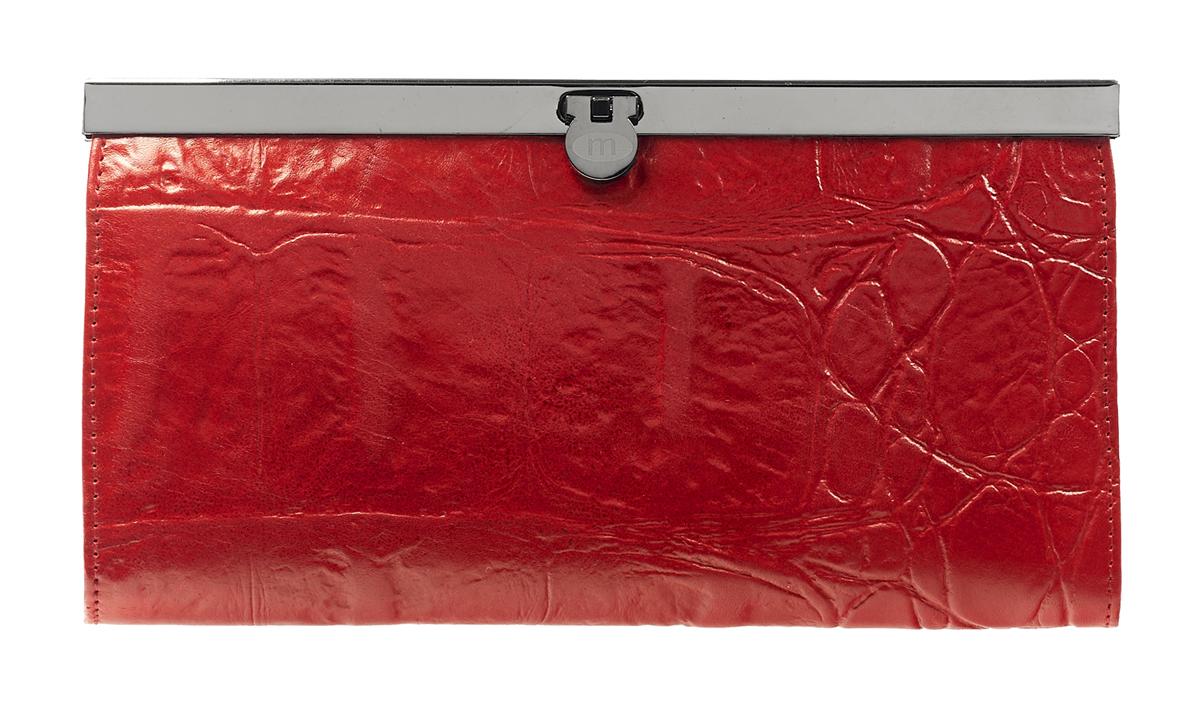 Кошелек Malgrado, цвет: красный. 73003-29102#INT-06501Стильный кошелек Malgrado выполнен из лаковой натуральной кожи красного цвета с декоративным тиснением. Внутри содержит два горизонтальных кармана из кожи для бумаг, четыре кармашка для кредитных карт, два кармашка со вставками из прозрачного пластика, отделение на молнии для мелочи и четыре отделения для купюр. Кошелек упакован в подарочную металлическую коробку с логотипом фирмы. Такой кошелек станет замечательным подарком человеку, ценящему качественные и практичные вещи. Характеристики:Материал: натуральная кожа, текстиль, металл. Размер кошелька: 19 см х 10 см х 2 см. Цвет: красный.Размер упаковки: 23 см х 13 см х 4,5 см. Артикул: 73003-19902.