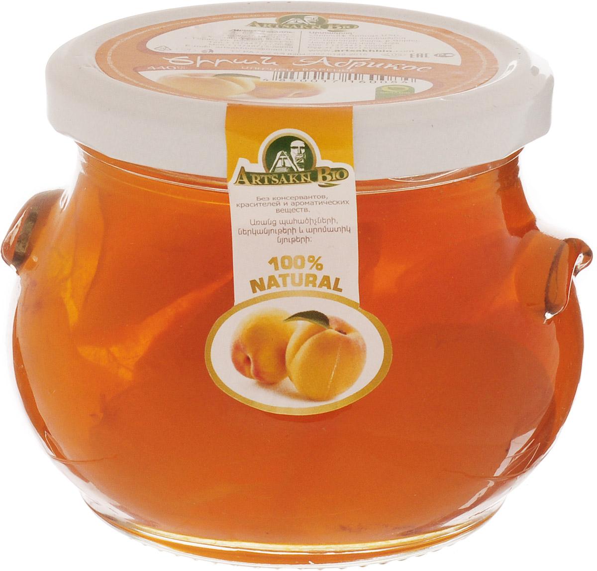 Artsakh Bio варенье из абрикоса, 440 г0120710Варенье из абрикоса полезно для сердечно-сосудистой системы. Оно улучшает обмен веществ и пищеварение.Абрикосы показаны при желудочных заболеваниях и нарушении обмена веществ. Они мягко, но надолго возбуждают железистый аппарат желудка и нормализуют кислотность желудочного сока, что приводит в норму деятельность поджелудочной железы, а в силу этого улучшается работа печени и желчного пузыря.