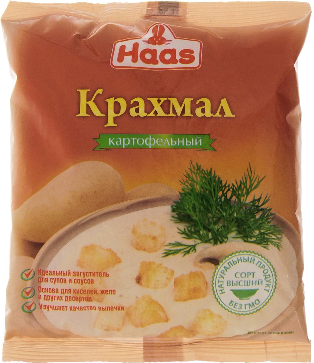 Haas крахмал картофельный, 200 г4607012293282Картофельный крахмал Haas идеально подходит для приготовления киселей, прозрачных супов, соусов и подливок. Также добавляют в хлеб, сдобную выпечку и различные сорта печенья, чтобы придать конечному продукту нужную текстуру, влажность, консистенцию и внешний вид. Кроме того, картофельный крахмал с успехом используется для выпечки фруктовых и творожных тортов благодаря своей способности абсорбировать излишнюю жидкость.