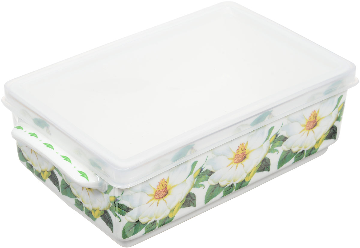 Блюдо для холодца Elan Gallery Белый шиповник, с крышкой, 800 млVT-1520(SR)Блюдо для холодца Elan Gallery Белый шиповник, изготовленное из высококачественной керамики, предназначено для приготовления и хранения заливного или холодца. Пластиковая крышка, входящая в комплект, сохранит свежесть вашего блюда. Также блюдо можно использовать для приготовления и хранения салатов. Оформлено изделие оригинальным рисунком. Такое блюдо украсит сервировку вашего стола и подчеркнет прекрасный вкус хозяйки.Не использовать в микроволновой печи. Размер блюда: 20 х 11,5 х 6 см.