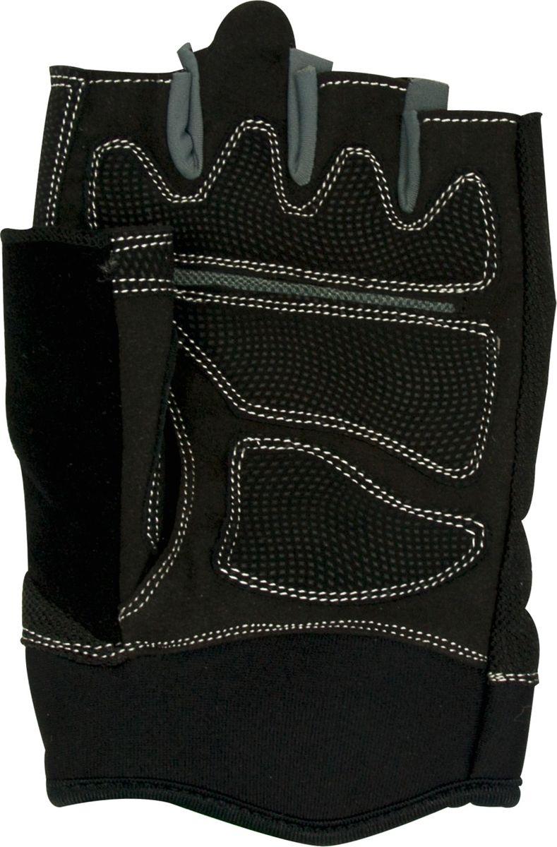 Перчатки для фитнеса Starfit SU-116, цвет: черный, серый. Размер LWRA515701Перчатки для фитнеса Star Fit SU-116 необходимы для безопасной тренировки со снарядами (грифы, гантели), во время подтягиваний и отжиманий. Они минимизируют риск мозолей и ссадин на ладонях. Перчатки выполнены из текстиля.