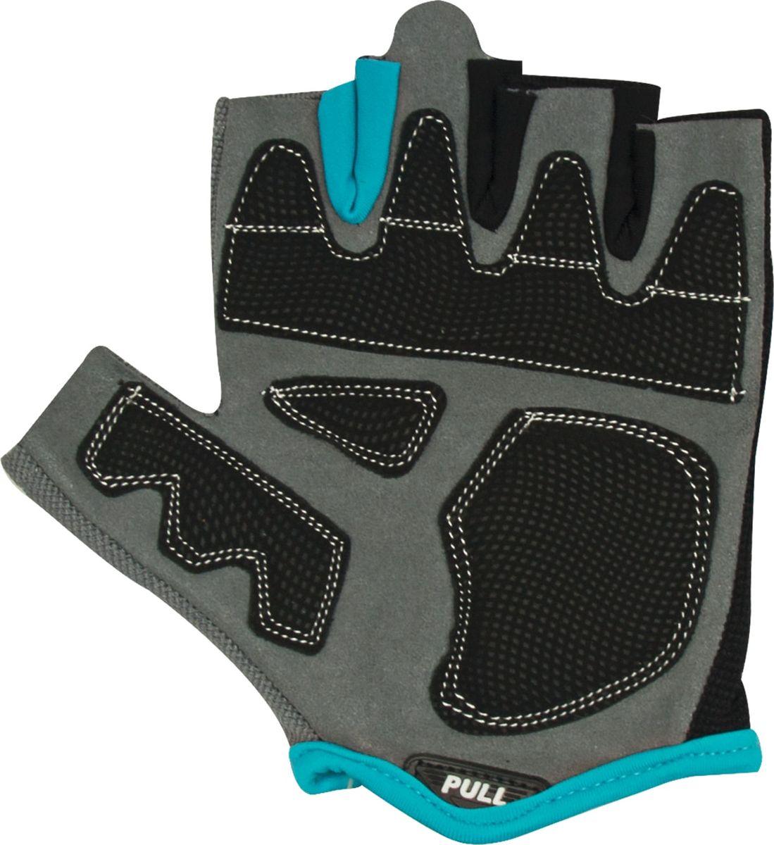 Перчатки для фитнеса Starfit  SU-117 , цвет: черный, серый, голубой. Размер L - Одежда, экипировка