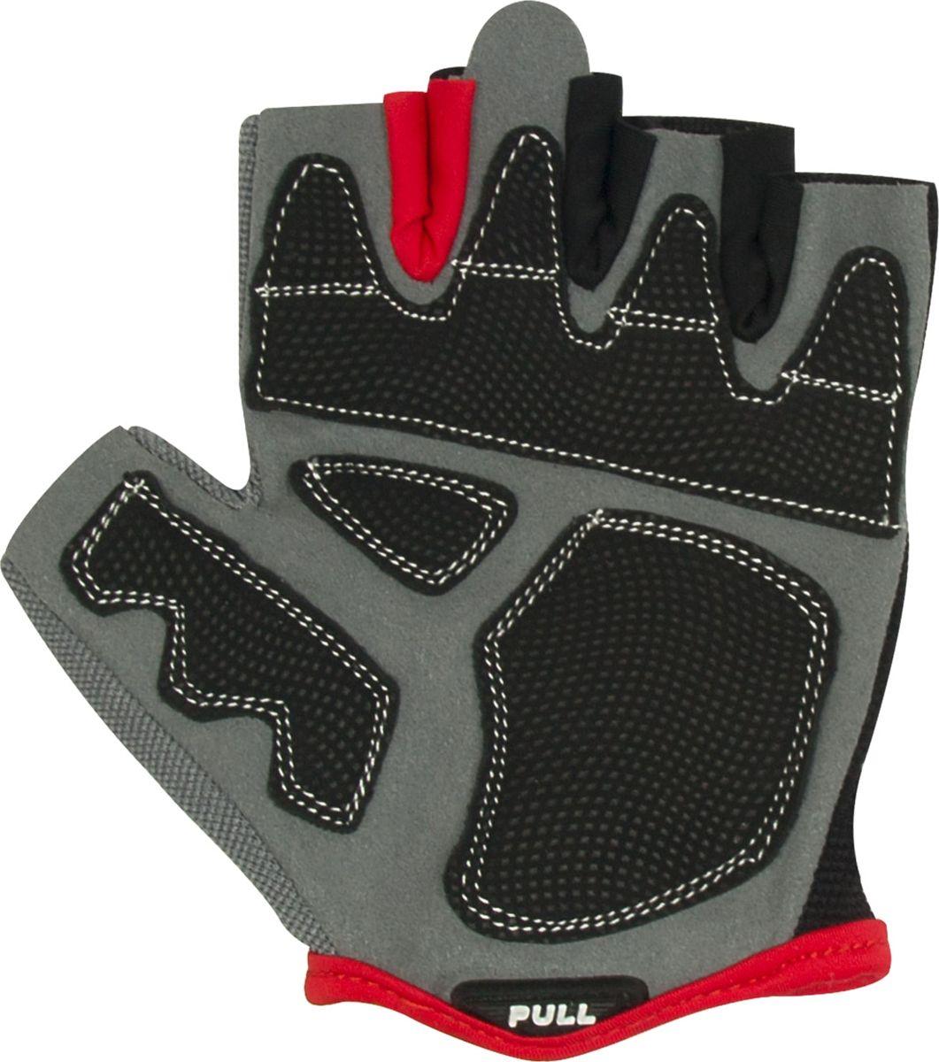 Перчатки для фитнеса Starfit  SU-117 , цвет: черный, серый, красный. Размер L - Одежда, экипировка