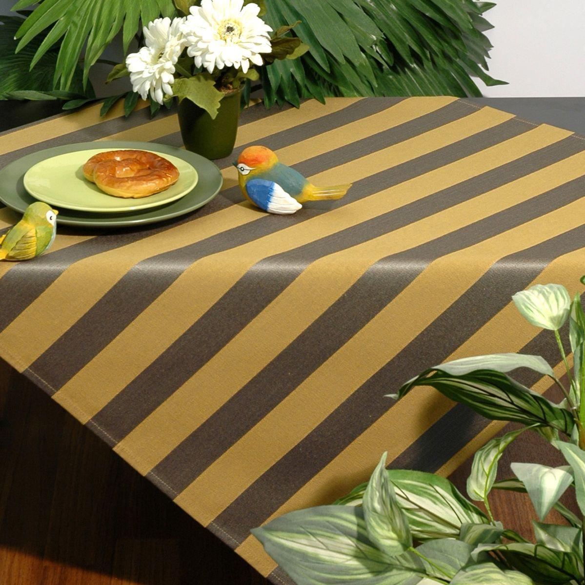 Скатерть Schaefer, квадратная, цвет: желтый, коричневый, 85 x 85 см. 06024-100VT-1520(SR)Стильная скатерть Schaefer выполнена из полиэстера.Изделия из полиэстера легко стирать: они не мнутся, не садятся и быстро сохнут, они более долговечны, чем изделия из натуральных волокон.Немецкая компания Schaefer создана в 1921 году. На протяжении всего времени существования она создает уникальные коллекции домашнего текстиля для гостиных, спален, кухонь и ванных комнат. Дизайнерские идеи немецких художников компании Schaefer воплощаются в текстильных изделиях, которые сделают ваш дом красивее и уютнее и не останутся незамеченными вашими гостями. Дарите себе и близким красоту каждый день!