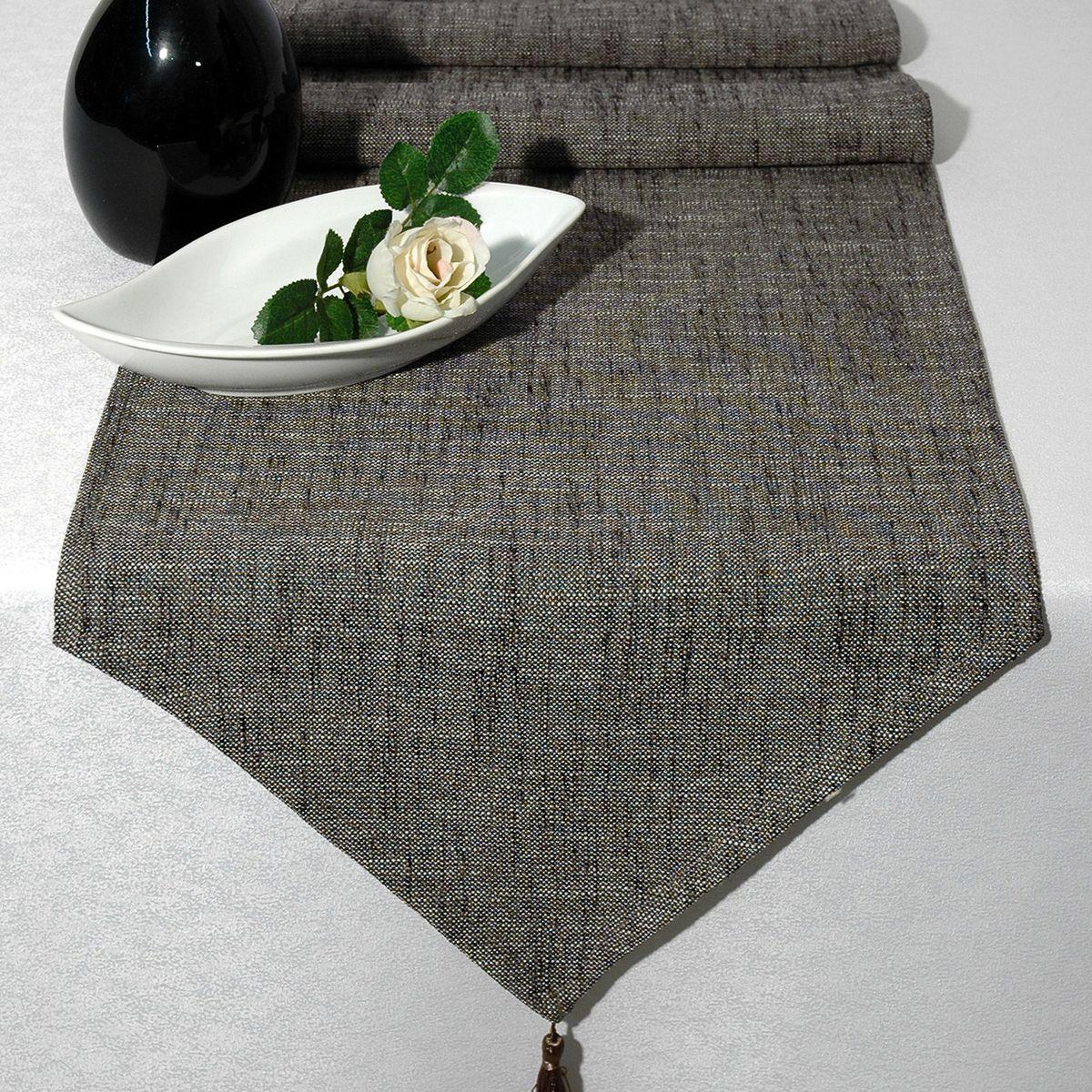 Дорожка для декорирования стола Schaefer, 40 x 160 см, цвет: серый. 06750-254VT-1520(SR)Дорожка для декорирования стола Schaefer может быть использована, как основной элемент, так и дополнение для создания уюта и романтического настроения вечер.Дорожка выполнена из полиэстера и акрила. Изделие легко стирать: не мнется, не садится и быстро сохнет, более долговечно, чем изделие из натуральных волокон.Материал: полиэстер, акрил Размер: 40 x 160 см.