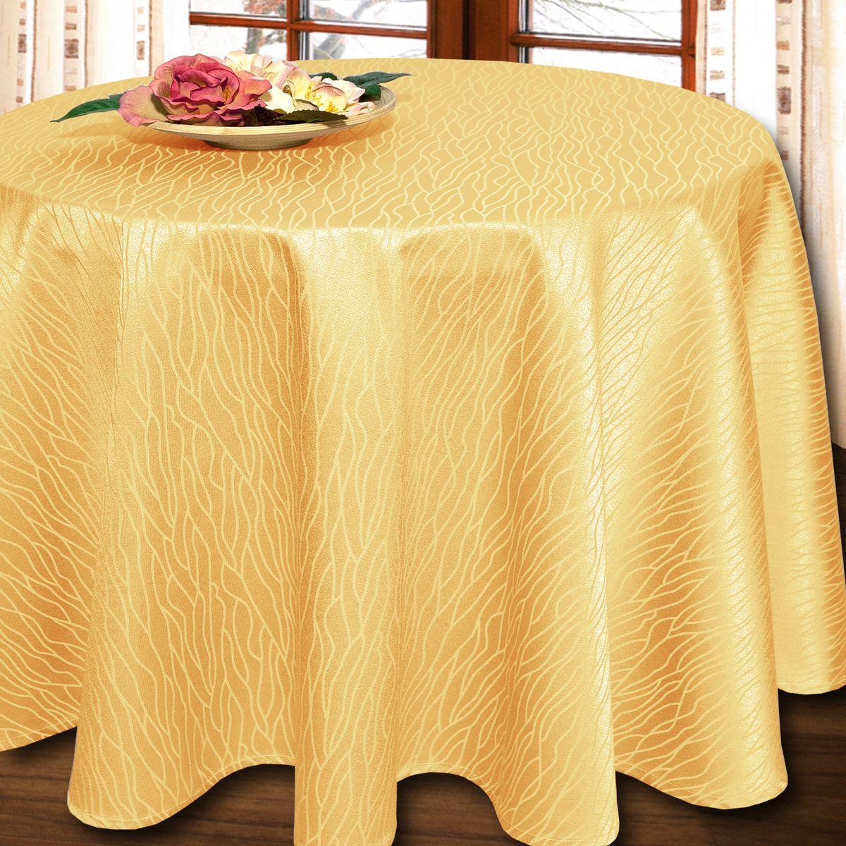 Скатерть Schaefer, круглая, цвет: желтый, диаметр 160 см. 07424-4261004900000360Круглая скатерть Schaefer выполнена из полиэстера и хлопка.Изделия из полиэстера легко стирать: они не мнутся, не садятся и быстро сохнут, они более долговечны, чем изделия из натуральных волокон.Немецкая компания Schaefer создана в 1921 году. На протяжении всего времени существования она создает уникальные коллекции домашнего текстиля для гостиных, спален, кухонь и ванных комнат. Дизайнерские идеи немецких художников компании Schaefer воплощаются в текстильных изделиях, которые сделают ваш дом красивее и уютнее и не останутся незамеченными вашими гостями. Дарите себе и близким красоту каждый день!
