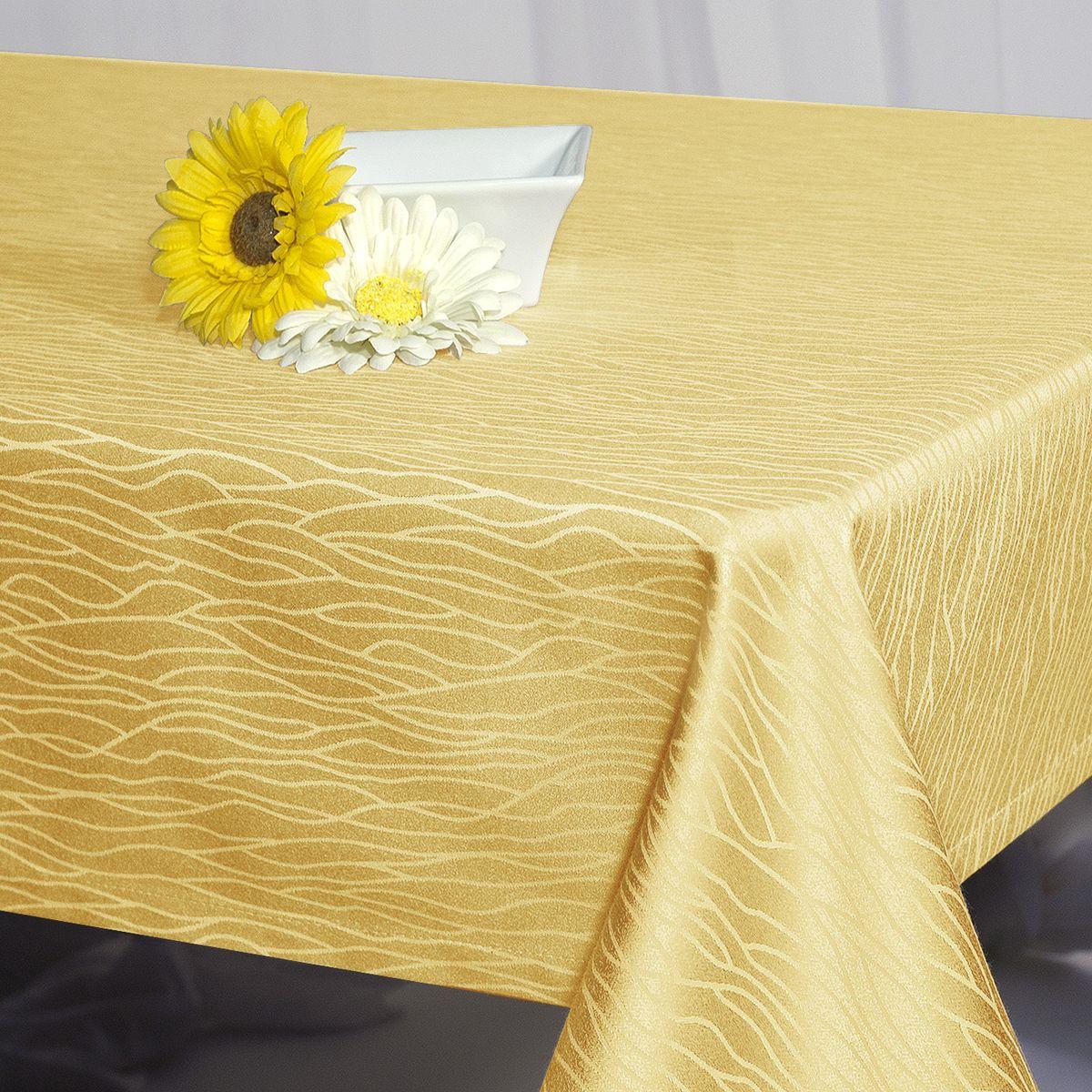 Скатерть Schaefer, прямоугольная, цвет: желтый, 130 x 170 см. 07424-429VT-1520(SR)Стильная скатерть Schaefer выполнена из полиэстера и хлопка.Изделия из полиэстера легко стирать: они не мнутся, не садятся и быстро сохнут, они более долговечны, чем изделия из натуральных волокон.Немецкая компания Schaefer создана в 1921 году. На протяжении всего времени существования она создает уникальные коллекции домашнего текстиля для гостиных, спален, кухонь и ванных комнат. Дизайнерские идеи немецких художников компании Schaefer воплощаются в текстильных изделиях, которые сделают ваш дом красивее и уютнее и не останутся незамеченными вашими гостями. Дарите себе и близким красоту каждый день!