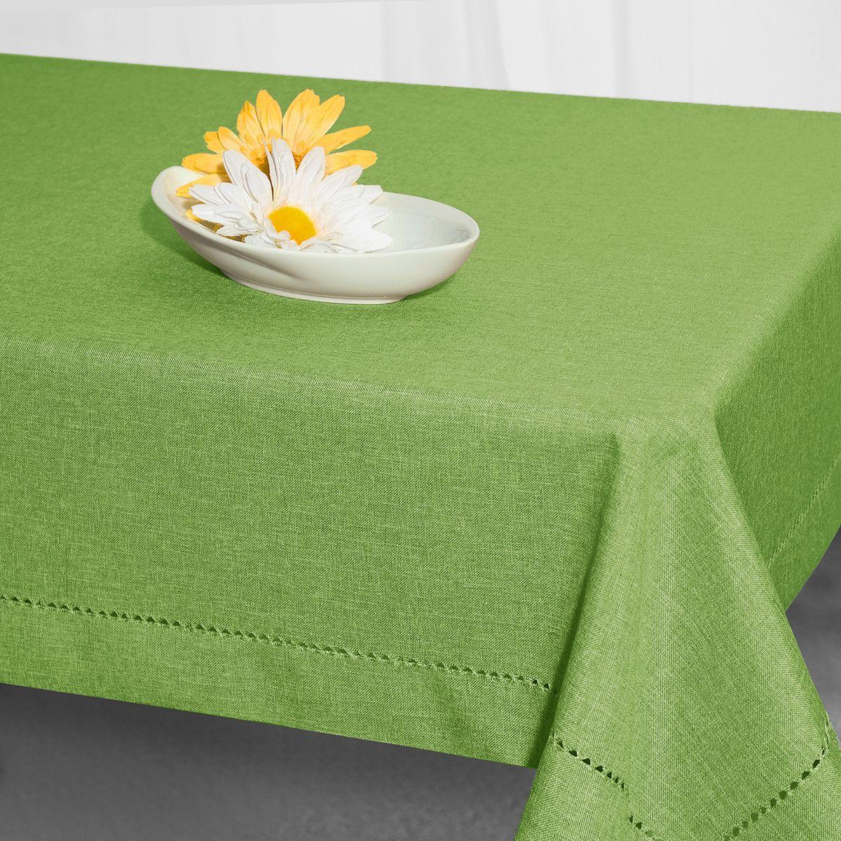 Скатерть Schaefer, прямоугольная, цвет: зеленый, 130 x 170 см. 07602-429VT-1520(SR)Стильная скатерть Schaefer выполнена из полиэстера.Изделия из полиэстера легко стирать: они не мнутся, не садятся и быстро сохнут, они более долговечны, чем изделия из натуральных волокон.Немецкая компания Schaefer создана в 1921 году. На протяжении всего времени существования она создает уникальные коллекции домашнего текстиля для гостиных, спален, кухонь и ванных комнат. Дизайнерские идеи немецких художников компании Schaefer воплощаются в текстильных изделиях, которые сделают ваш дом красивее и уютнее и не останутся незамеченными вашими гостями. Дарите себе и близким красоту каждый день!