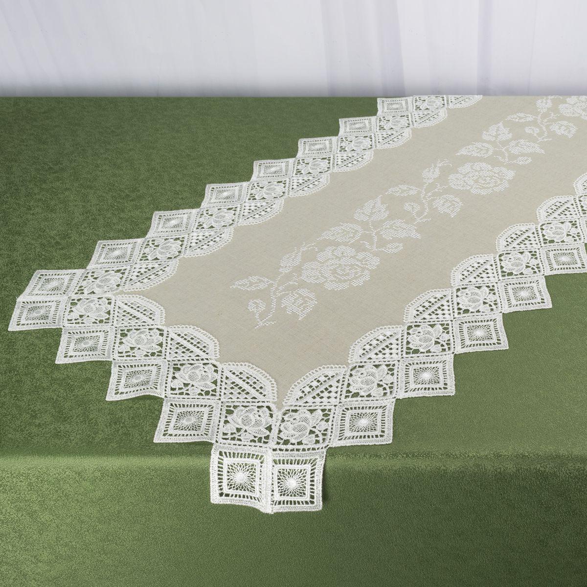 Дорожка для декорирования стола Schaefer, 40 x 100 см, цвет: белый. 07701-20207701-202Дорожка для декорирования стола Schaefer может быть использована, как основной элемент, так и дополнение для создания уюта и романтического настроения.Дорожка выполнена из полиэстера. Изделие легко стирать: оно не мнется, не садится и быстро сохнет, более долговечно, чем изделие из натуральных волокон.Материал: 100% полиэстер.Размер: 40 x 100 см