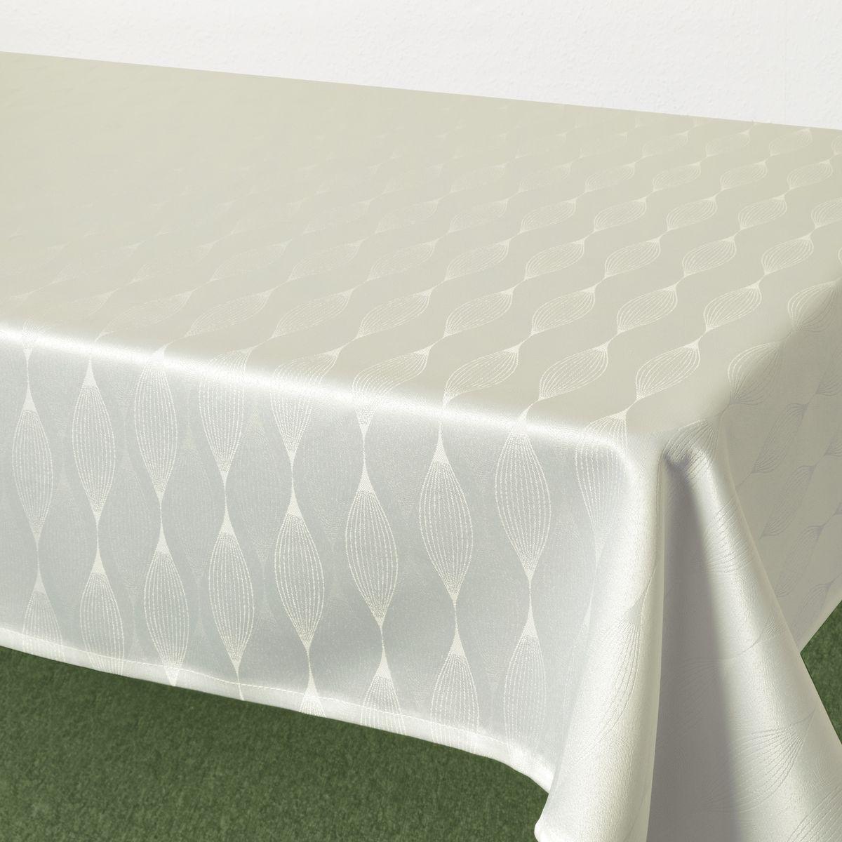 Скатерть Schaefer, прямоугольная, цвет: белый, 160 х 220 см. 07732-4081004900000360Стильная скатерть Schaefer выполнена из полиэстера.Изделия из полиэстера легко стирать: они не мнутся, не садятся и быстро сохнут, они более долговечны, чем изделия из натуральных волокон.Немецкая компания Schaefer создана в 1921 году. На протяжении всего времени существования она создает уникальные коллекции домашнего текстиля для гостиных, спален, кухонь и ванных комнат. Дизайнерские идеи немецких художников компании Schaefer воплощаются в текстильных изделиях, которые сделают ваш дом красивее и уютнее и не останутся незамеченными вашими гостями. Дарите себе и близким красоту каждый день!