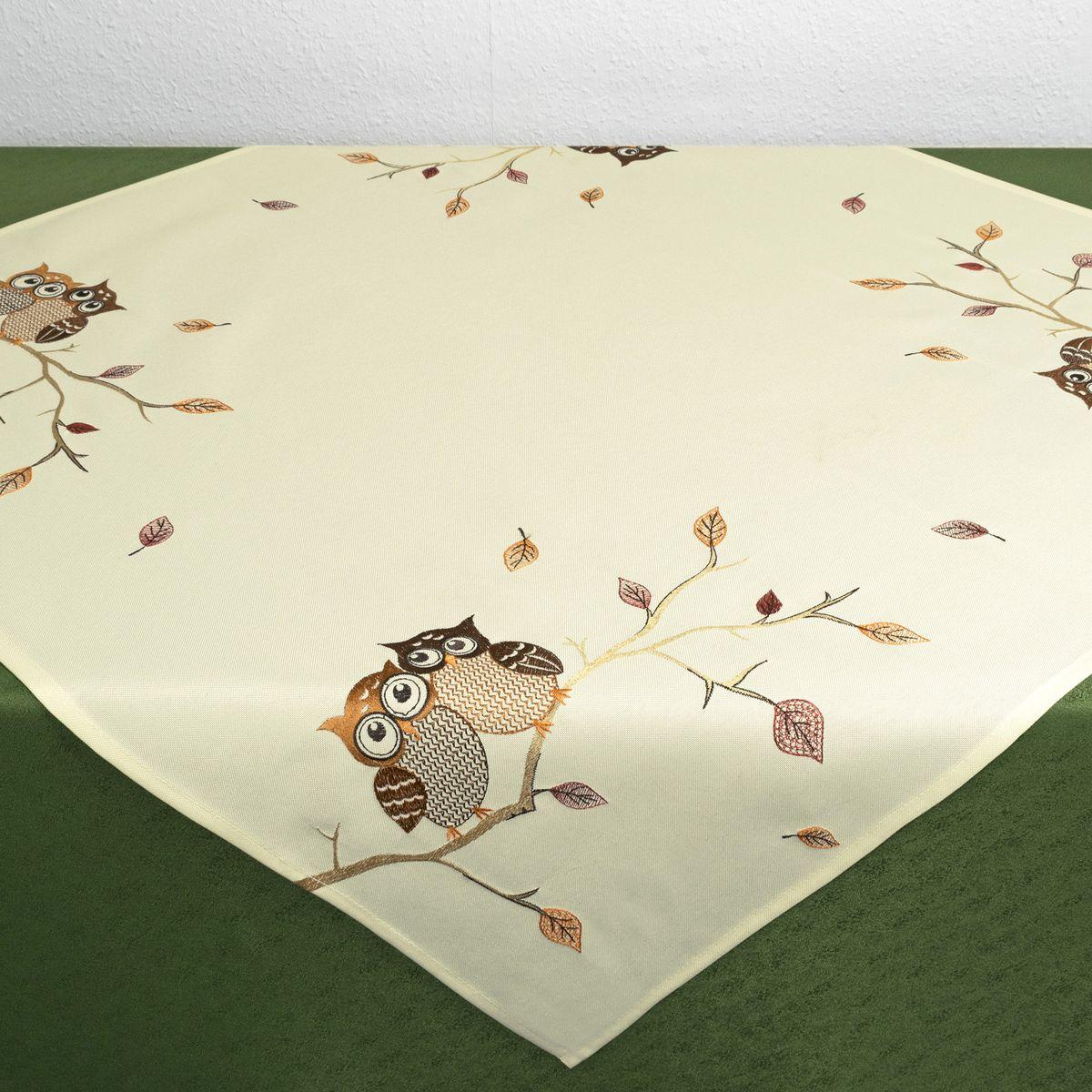 Скатерть Schaefer, цвет: бежевый, квадратная, 85 х 85 см. 07789-10007789-100Стильная скатерть Schaefer, выполненная из полиэстера, украшена вышивкой. Вышивка дает эффект объема за счет направления стежков при вышивании.Изделия из полиэстера легко стирать: они не мнутся, не садятся и быстро сохнут, они более долговечны, чем изделия из натуральных волокон.Немецкая компания Schaefer создана в 1921 году. На протяжении всего времени существования она создает уникальные коллекции домашнего текстиля для гостиных, спален, кухонь и ванных комнат. Дизайнерские идеи немецких художников компании Schaefer воплощаются в текстильных изделиях, которые сделают ваш дом красивее и уютнее и не останутся незамеченными вашими гостями. Дарите себе и близким красоту каждый день!