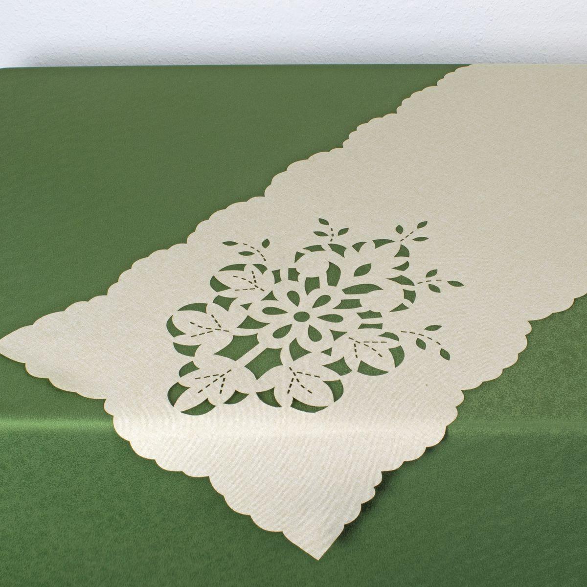 Дорожка для декорирования стола Schaefer , 40 х 140 см, цвет: белый. 07800-2111со44_синий, белыйДорожка для декорирования стола Schaefer может быть использована, как основной элемент, так и дополнение для создания уюта и романтического настроения.Дорожка выполнена из полиэстера. Изделие легко стирать: оно не мнется, не садится и быстро сохнет, более долговечно, чем изделие из натуральных волокон.Материал: 100% полиэстер.Размер: 40 х 140 см.