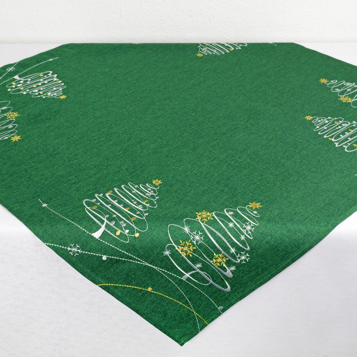 Скатерть Schaefer, квадратная, цвет: зеленый, 85 х 85 см. 07865-1006со5893-1Стильная скатерть Schaefer, выполненная из полиэстера, украшена вышивкой. Вышивка дает эффект объема за счет направления стежков при вышивании.Изделия из полиэстера легко стирать: они не мнутся, не садятся и быстро сохнут, они более долговечны, чем изделия из натуральных волокон.Немецкая компания Schaefer создана в 1921 году. На протяжении всего времени существования она создает уникальные коллекции домашнего текстиля для гостиных, спален, кухонь и ванных комнат. Дизайнерские идеи немецких художников компании Schaefer воплощаются в текстильных изделиях, которые сделают ваш дом красивее и уютнее и не останутся незамеченными вашими гостями. Дарите себе и близким красоту каждый день!
