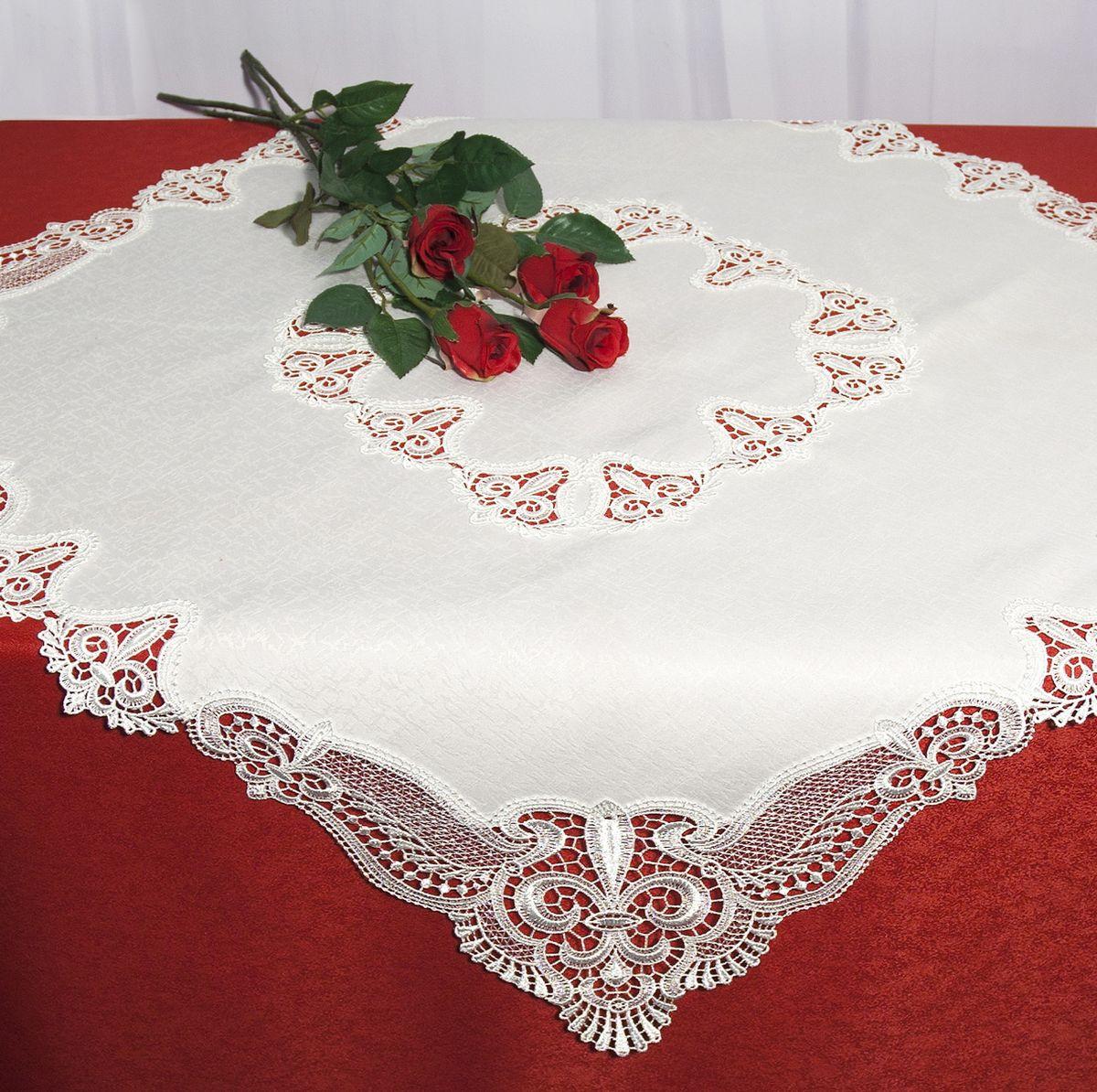 Скатерть Schaefer, квадратная, цвет: белый, 85 x 85 см. 30223022Стильная скатерть Schaefer выполнена из полиэстера.Изделия из полиэстера легко стирать: они не мнутся, не садятся и быстро сохнут, они более долговечны, чем изделия из натуральных волокон.Немецкая компания Schaefer создана в 1921 году. На протяжении всего времени существования она создает уникальные коллекции домашнего текстиля для гостиных, спален, кухонь и ванных комнат. Дизайнерские идеи немецких художников компании Schaefer воплощаются в текстильных изделиях, которые сделают ваш дом красивее и уютнее и не останутся незамеченными вашими гостями. Дарите себе и близким красоту каждый день!