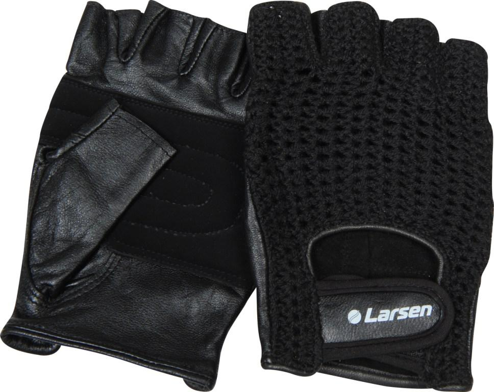 Перчатки для фитнеса Larsen NT503, цвет: черный. Размер S232216Перчатки Larsen NT503 предназначены для занятий тяжелой атлетикой, во время которых необходим комфорт и особая защита ладоней. Перчатки выполнены из натуральной кожи и снабжены сетчатой хлопковой тканью с тыльной стороны ладони. Дополнительная накладка на ладони служит для усиления защиты от протирания. Удобная застежка-липучка Velcro обеспечивает надежную фиксацию на руке.