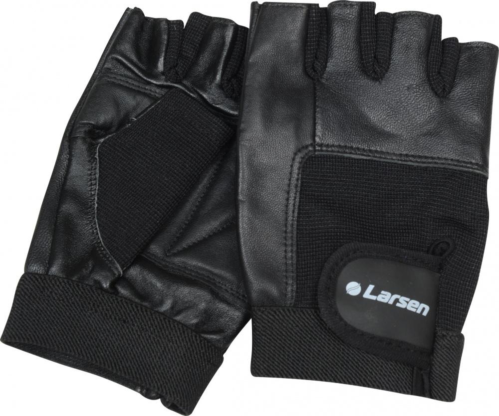 Перчатки для фитнеса Larsen  NT506 , цвет: черный. Размер L - Одежда, экипировка