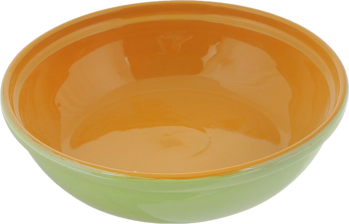 Салатник Борисовская керамика Модерн, цвет: салатовый, оранжевый, 1 л115610Салатник Борисовская керамика Модерн выполнен из высококачественной глазурованнойкерамики. Этот удобный салатник придется по вкусу любителям здоровой и полезной пищи.Посуда термостойкая. Можно использовать в духовке и микроволновой печи.Диаметр (по верхнему краю): 21 см.Высота стенки: 6 см.