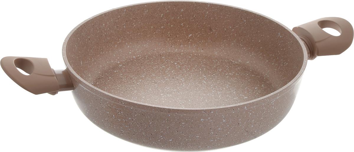 Сотейник Fissman Trieste, с антипригарным покрытием, 3,6 лAL-4469.28Сотейник Fissman Trieste изготовлен из алюминия с антипригарным покрытием TouchStone, состоящим из нескольких слоев натуральной каменной крошки на основе минеральных компонентов. Такое покрытие долговечно, безопасно для здоровья и окружающей среды, оно обладает великолепными антипригарными свойствами. Сотейник оснащен удобными бакелитовыми ручками, которые не нагреваются в процессе приготовления пищи и не скользят в мокрых руках. Сотейник Fissman Trieste создан, чтобы удовлетворить потребности самых взыскательных кулинаров и профессиональных шеф-поваров. Это результат сочетания уникального производственного процесса, современного дизайна, непревзойденного качества и использования передовых сертифицированных материалов. Подходит для использования на газовых, электрических, стеклокерамических и индукционных плитах. Можно мыть в посудомоечной машине. Высота стенки: 7 см. Ширина сотейника (с учетом ручек): 43 см.