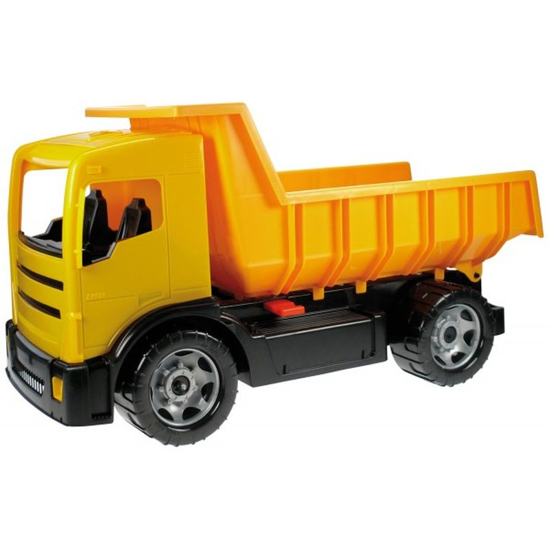 Lena Машинка Грузовик цвет желтый игрушечная машинка грузовик с подъемным боковым тентом amico